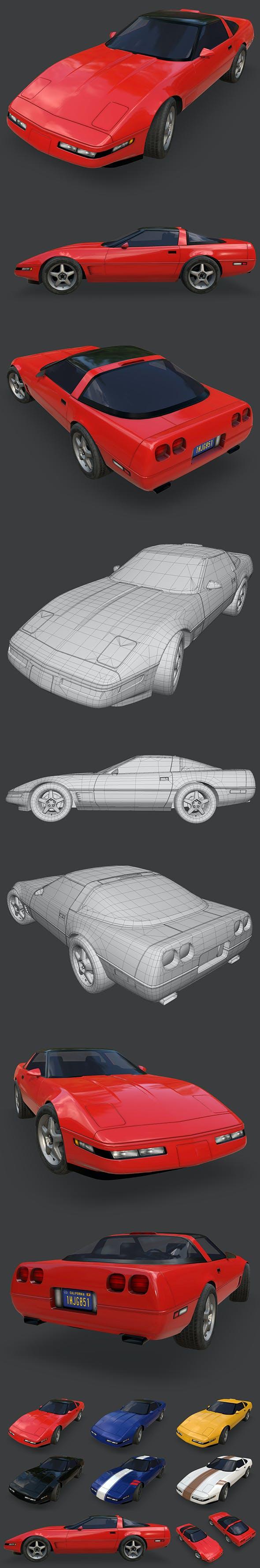 Chevrolet Corvette 1995 - 3DOcean Item for Sale