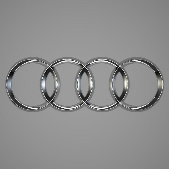 Audi Logo - 3DOcean Item for Sale