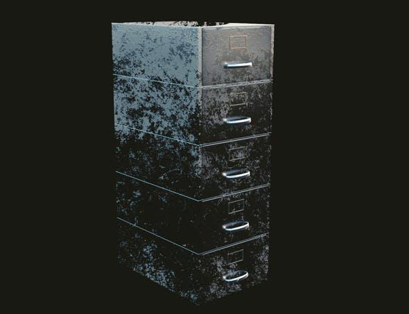 Old Filing Cabinet - 3DOcean Item for Sale