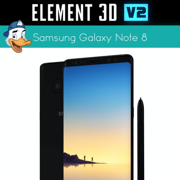 Samsung Galaxy Note 8 for Element 3D