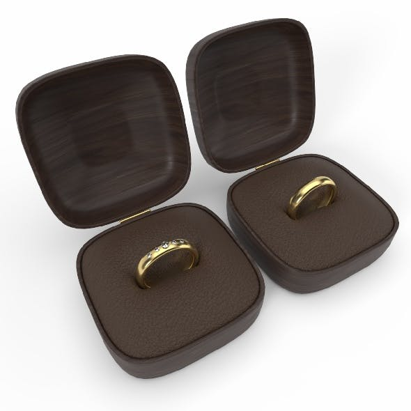 Wedding rings 3d model - 3DOcean Item for Sale