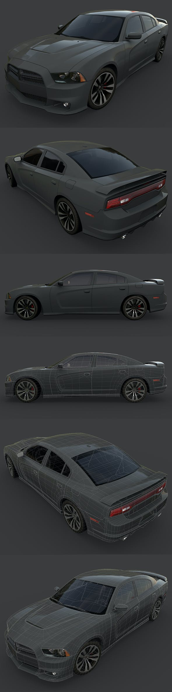Dodge Charger 2012 - 3DOcean Item for Sale