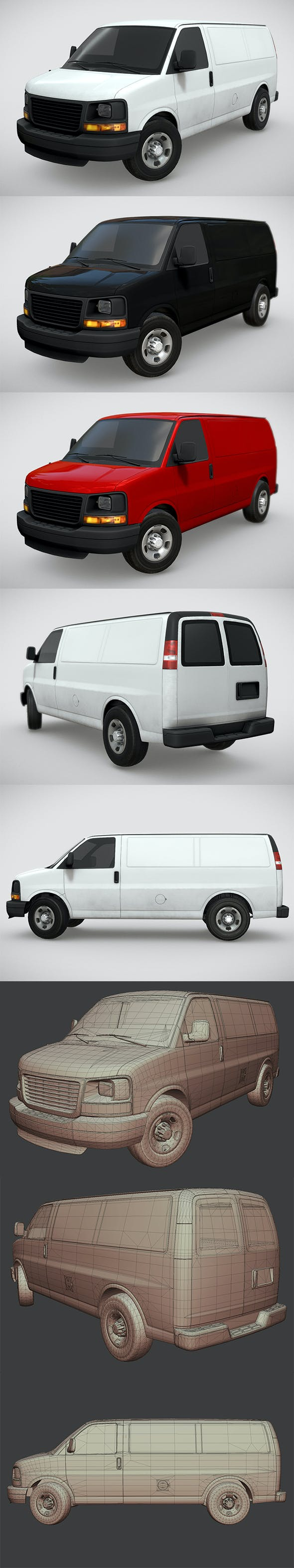 GMC Savana Van 2014 - 3DOcean Item for Sale