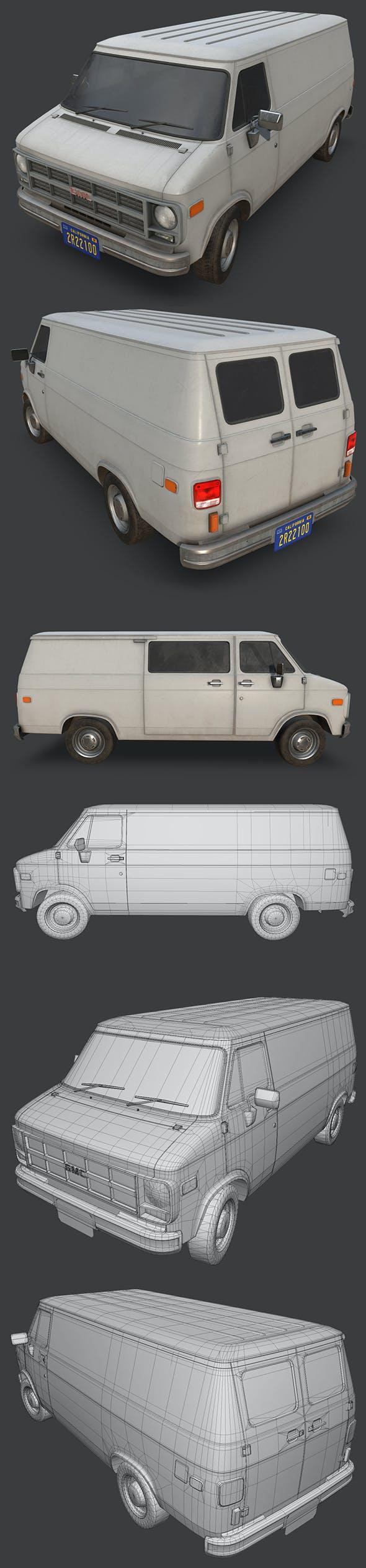 GMC Vandura Van 1994 - 3DOcean Item for Sale