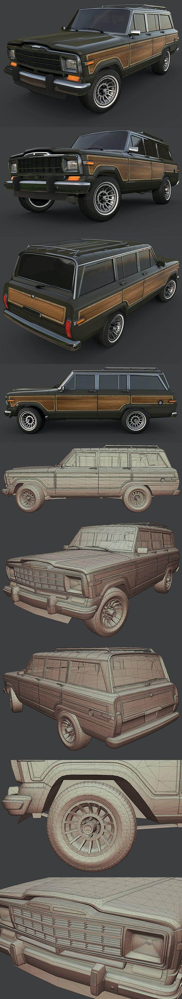 Jeep Wagoneer 1991 - 3DOcean Item for Sale