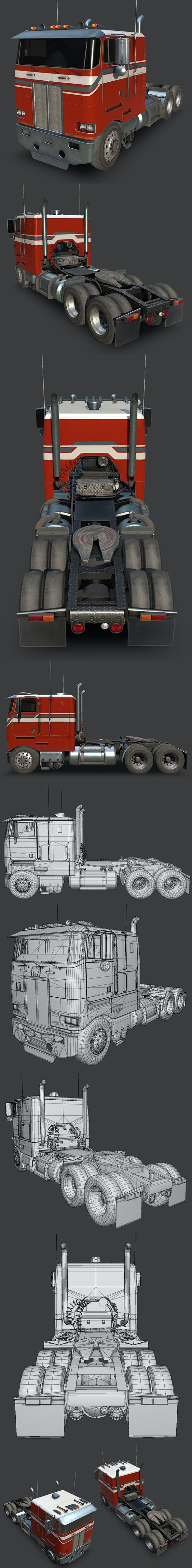 Peterbilt 362 Truck 1985 - 3DOcean Item for Sale