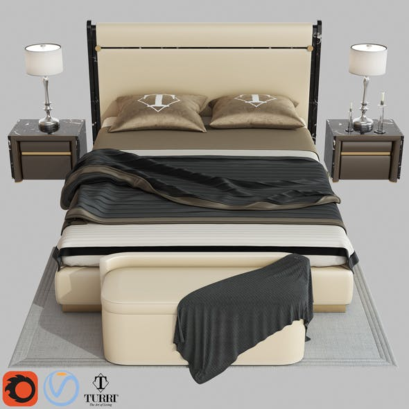 Madison bed by Turri 3D - 3DOcean Item for Sale