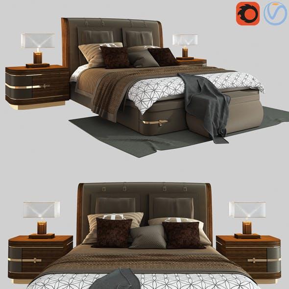 Diamond bed by Turri model