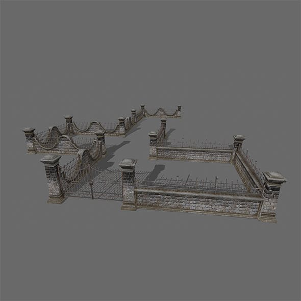 wall set - 3DOcean Item for Sale