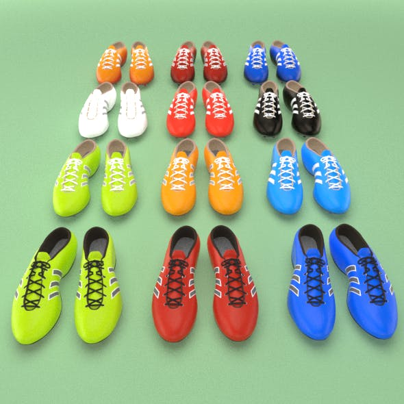 Football soccer boots (footwear, shoes) - 3DOcean Item for Sale