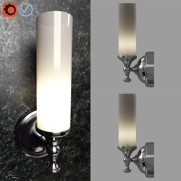 Pottery barn Mercer Single Tube Sconce 3d model - 3DOcean Item for Sale