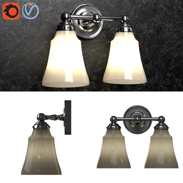 3d model Pottery barn Sussex Double Sconce - 3DOcean Item for Sale