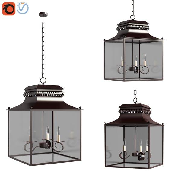 3d model Pottery barn Bolton IndoorOutdoor Lantern