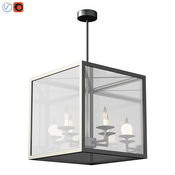 Manor IndoorOutdoor Glass Pendant 3d model