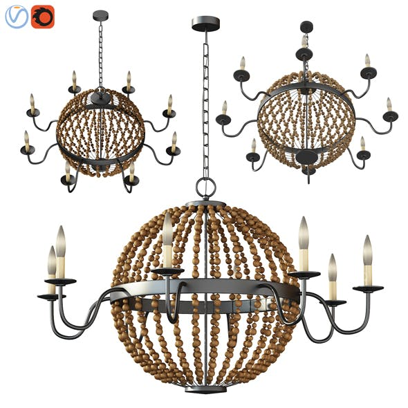 Ventura Chandelier model - 3DOcean Item for Sale