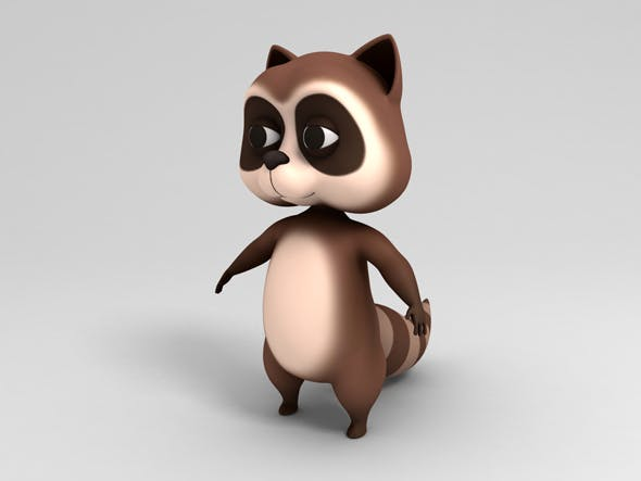 Raccoon Character - 3DOcean Item for Sale