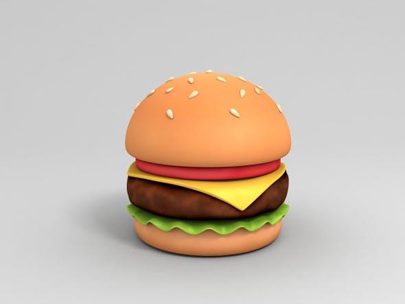 Cartoon Burger - 3DOcean Item for Sale