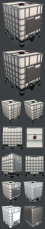 Intermediate Bulk Container - 3DOcean Item for Sale