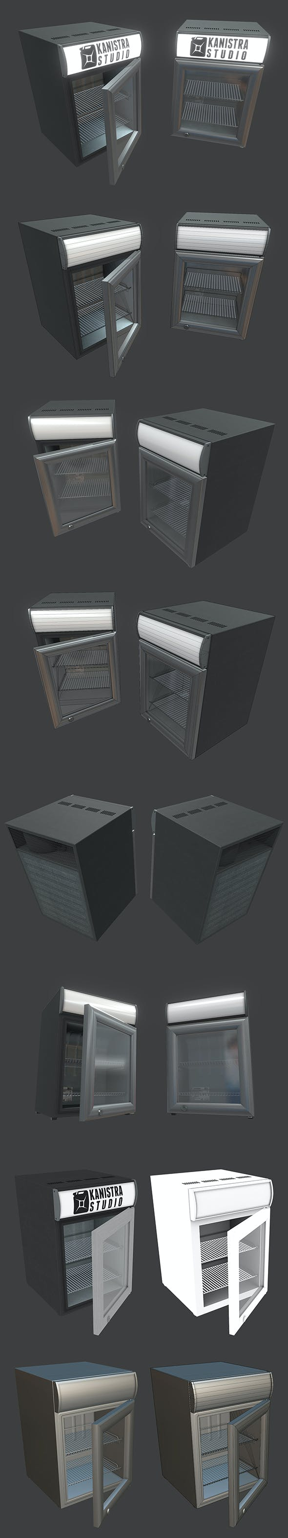 Small Fridge - 3DOcean Item for Sale