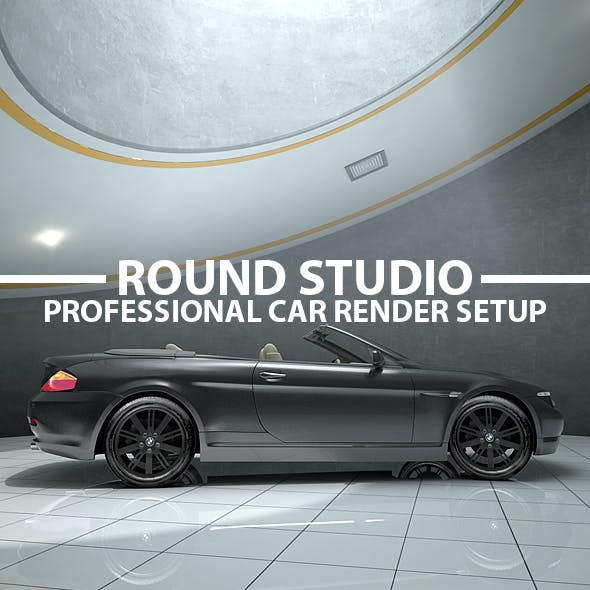 Round Garage Car Render Setup