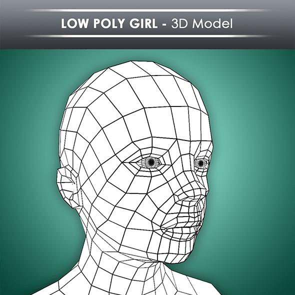 Low Poly Girl Base Mesh
