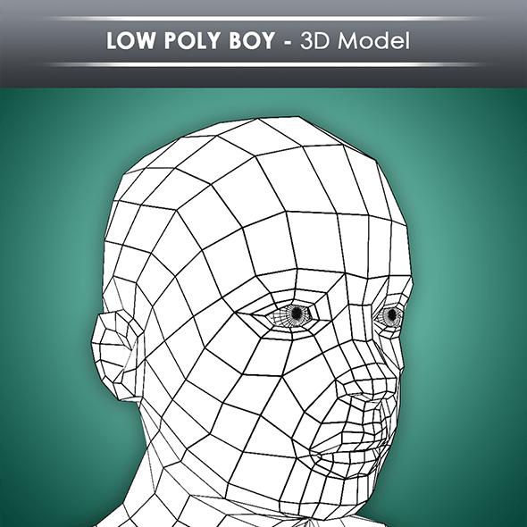 Low Poly Boy Base Mesh