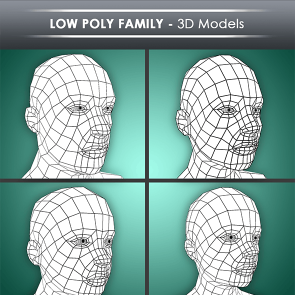 low poly family