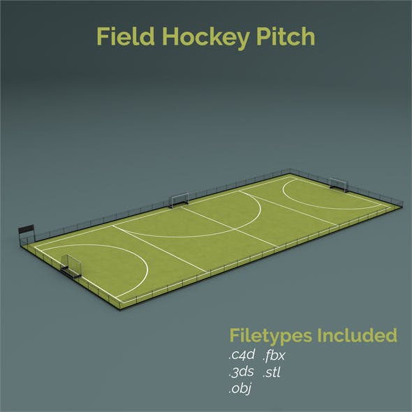Field Hockey Training Pitch - 3DOcean Item for Sale