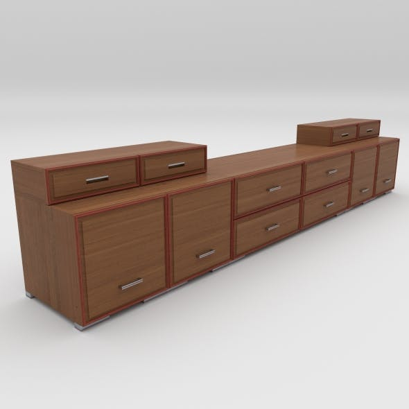 tv stand 6 - 3DOcean Item for Sale