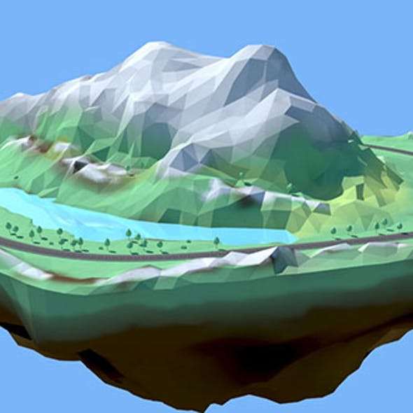 Low Poly Stylised Environment