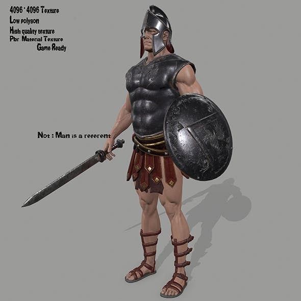 gladiator armor - 3DOcean Item for Sale