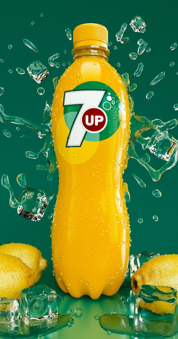 Bottle 7up - 3DOcean Item for Sale