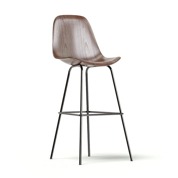 Wooden Bar Chair 3D Model - 3DOcean Item for Sale