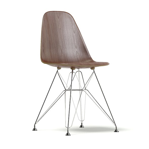 Chair 3D Model with Wire Legs - 3DOcean Item for Sale