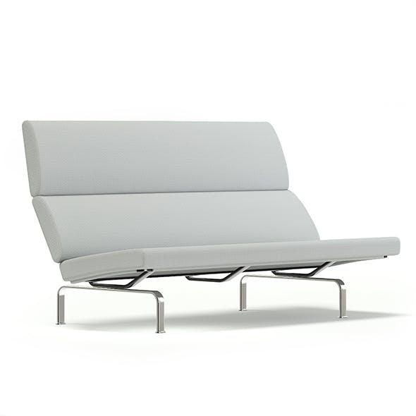 Grey Fabric Sofa 3D Model - 3DOcean Item for Sale
