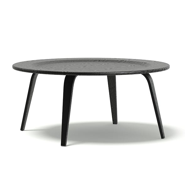 Round Black Coffee Table 3D Model - 3DOcean Item for Sale