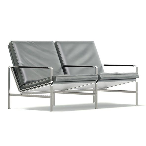Grey Metal Sofa 3D Model - 3DOcean Item for Sale