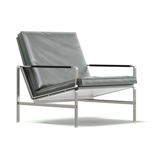 Grey Metal Armchair 3D Model - 3DOcean Item for Sale