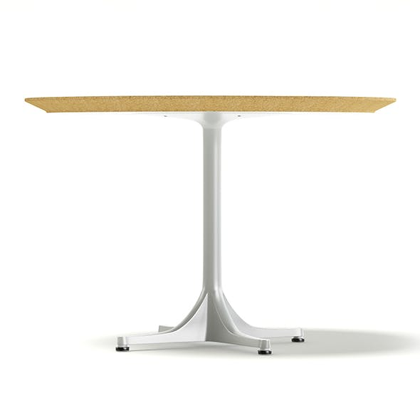 Round White Table 3D Model - 3DOcean Item for Sale