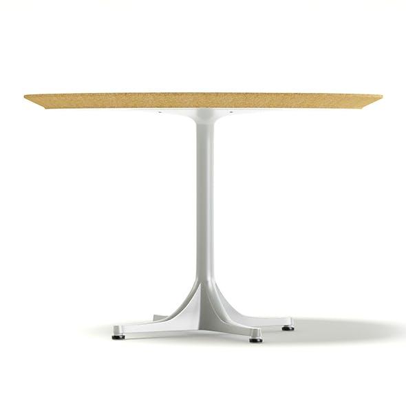 Round White Table 3D Model
