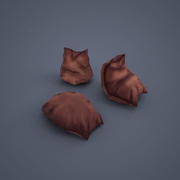 Sacks (low-poly) - 3DOcean Item for Sale