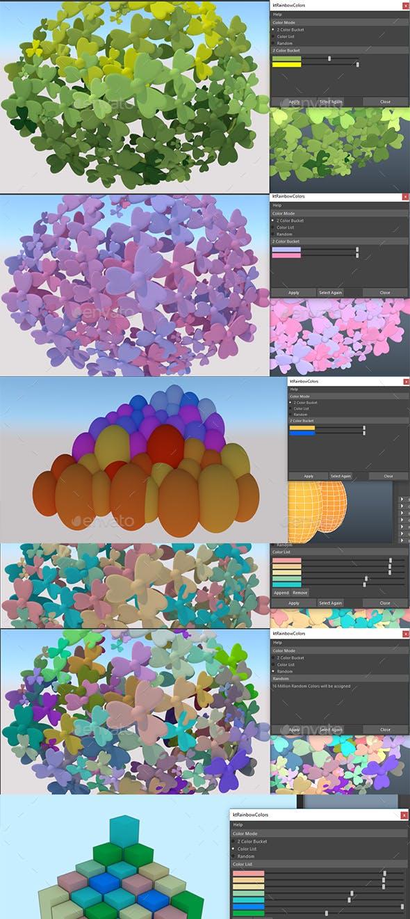 ktRainbowPolygons maya mel script - 3DOcean Item for Sale