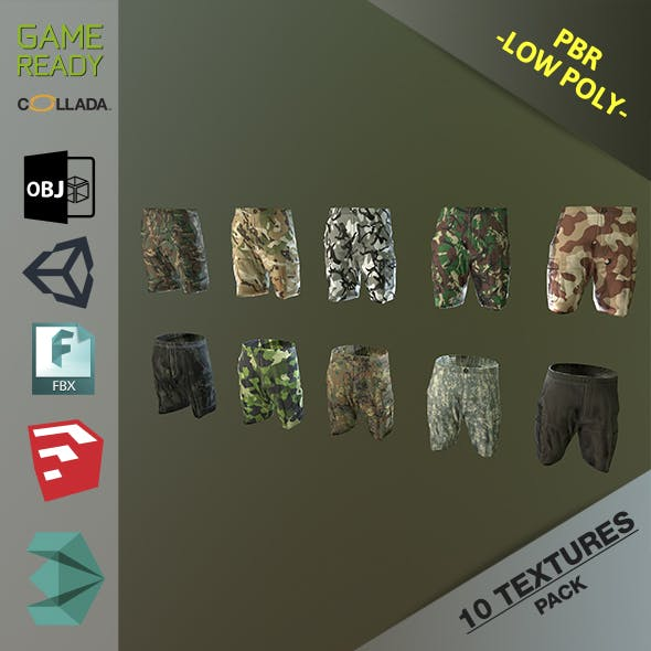 Camouflage Pants 1 - 3DOcean Item for Sale