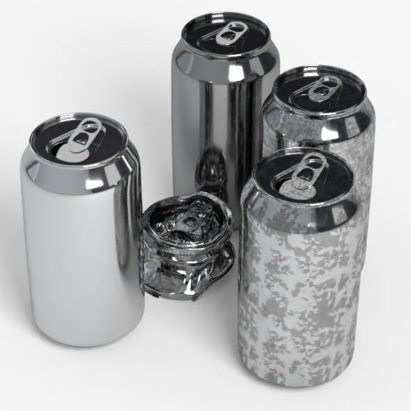 330ml Beverage Model Open Off Crushed Set - 3DOcean Item for Sale