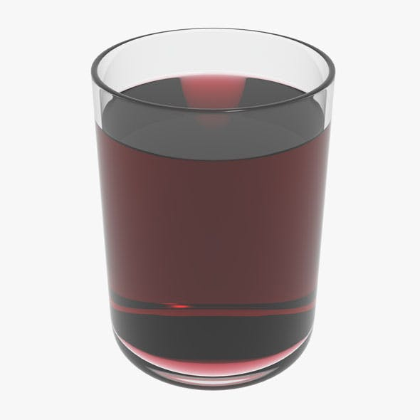 Glass With Red Wine - 3DOcean Item for Sale