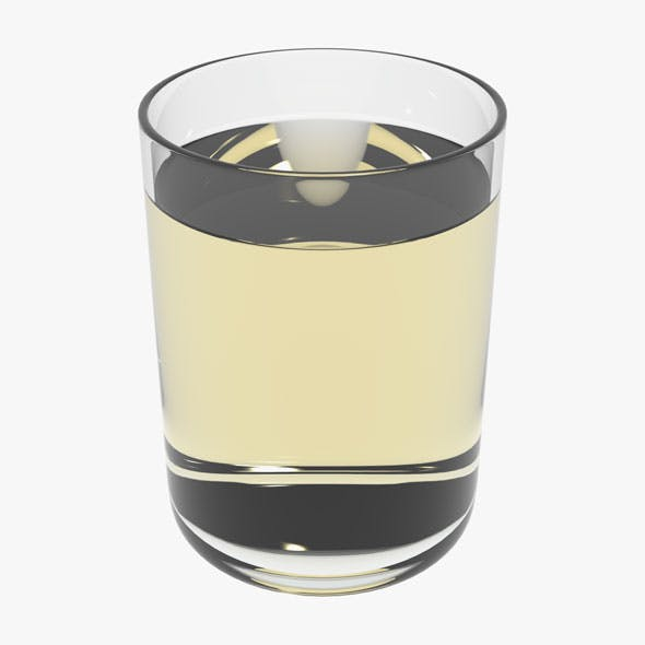 Glass With White Wine - 3DOcean Item for Sale