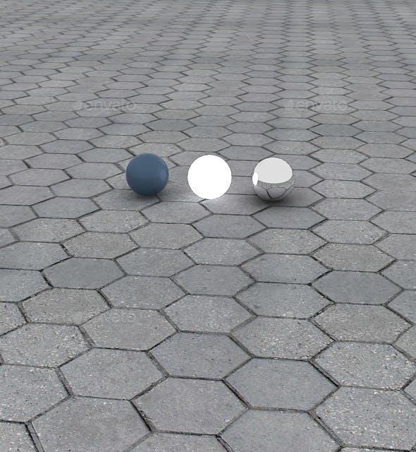 Hexagon Pavement Tileable Tile Texture - 3DOcean Item for Sale