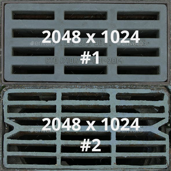 6 Sewer Drain Covers Pack