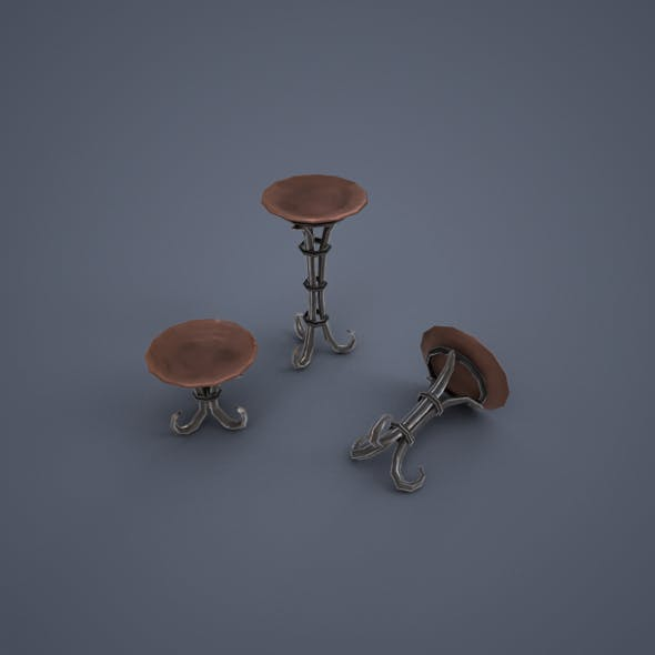 Stand with bowl (low poly) - 3DOcean Item for Sale