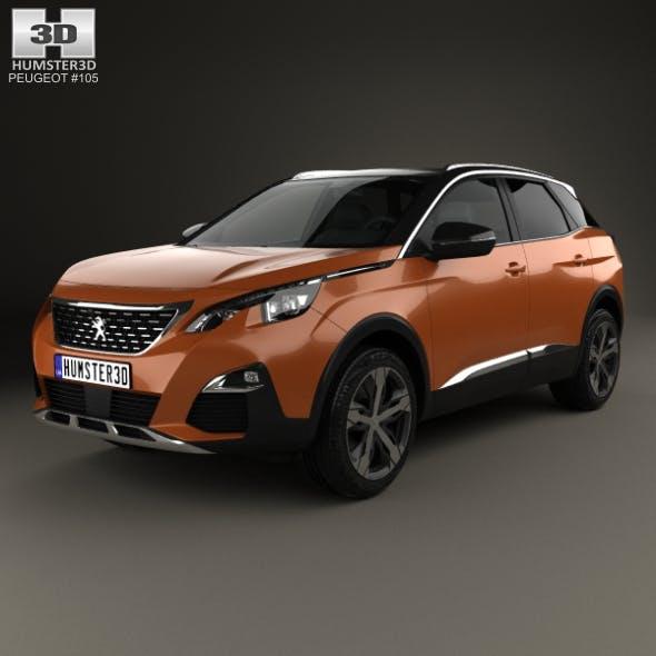 Peugeot 3008 2016 - 3DOcean Item for Sale